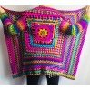RAINBOW CARDIGAN Sweater Hand Knit Sweater Women Oversized Hippie Vegan Plus Size Vest Clothing