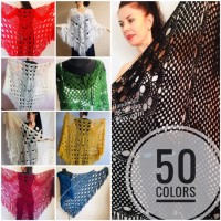 Black Crochet Shawl Wraps Wedding Triangle Fringe Big Size bridesmaid shawl mom birthday Gift For Her best friend Hand knit Mohair shawl