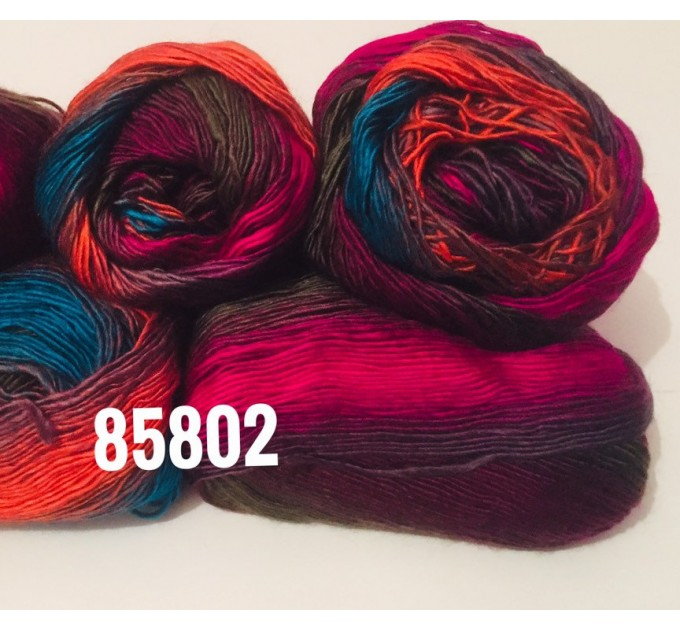 Crochet Multicolor Shawl Wrap Lace Triangle Boho Shawl Colorful Rainbow Shawl Fringe Big Crochet Shawl Hand Knitted Shawl Evening Shawl  Shawl / Wraps  10