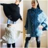 Hand Knit Poncho Wool Women Gray Poncho Sweater Winter Blue Poncho Plus Size Knitwear Boho Crochet Wrap Knit Cable Chunky Poncho White Black
