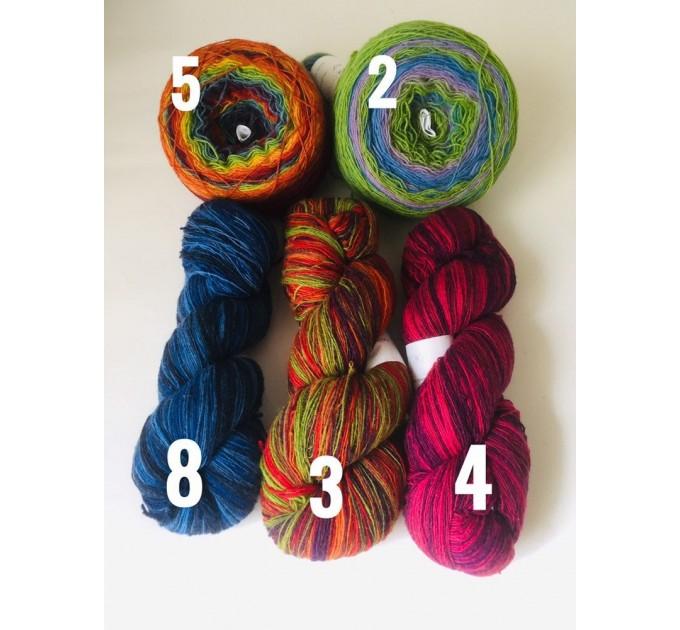 Burnt Orange Crochet Lace Shawl Wraps Grey Wool Shawl Lilac Boho Triangle Warm Scarf for Women Rainbow Floral Hand Knit Shawl Large  Shawl / Wraps  3