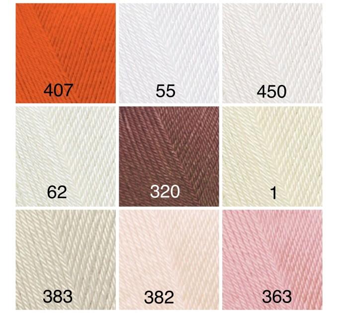 ALIZE DIVA Silk Effect Yarn Crochet Microfiber Acrylic Lace Hand Knitting Yarn Swimwear bikini Bag Multicolor Summer Rainbow Yarn Striping  Yarn  8