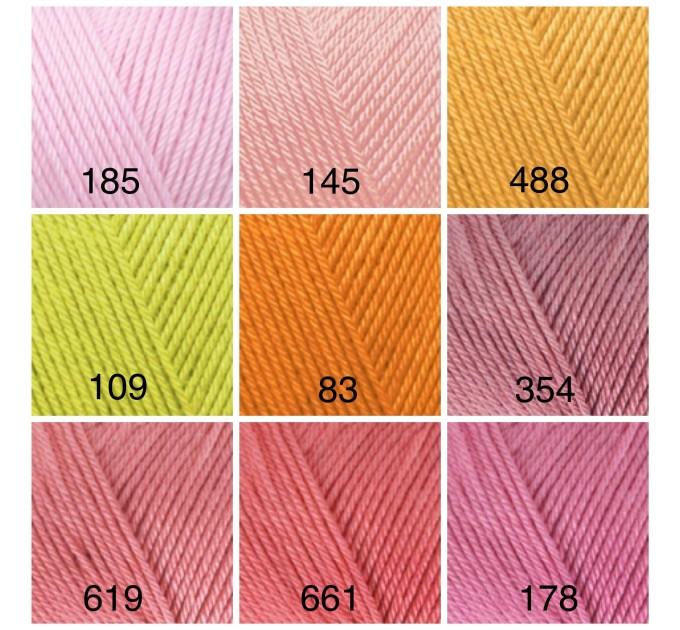 ALIZE DIVA Silk Effect Yarn Crochet Microfiber Acrylic Lace Hand Knitting Yarn Swimwear bikini Bag Multicolor Summer Rainbow Yarn Striping  Yarn  9