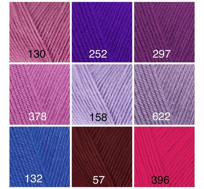 ALIZE DIVA Silk Effect Yarn Crochet Microfiber Acrylic Lace Hand Knitting Yarn Swimwear bikini Bag Multicolor Summer Rainbow Yarn Striping  Yarn  10