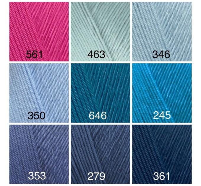 ALIZE DIVA Silk Effect Yarn Crochet Microfiber Acrylic Lace Hand Knitting Yarn Swimwear bikini Bag Multicolor Summer Rainbow Yarn Striping  Yarn  5