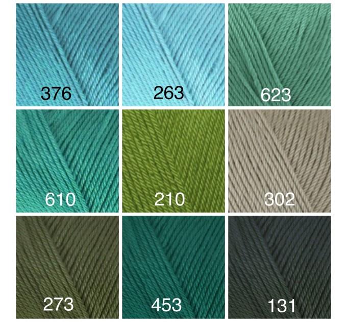 ALIZE DIVA Silk Effect Yarn Crochet Microfiber Acrylic Lace Hand Knitting Yarn Swimwear bikini Bag Multicolor Summer Rainbow Yarn Striping  Yarn  4