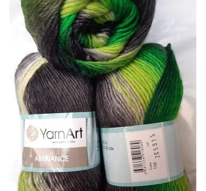 YarnArt AMBIANCE Rainbow Gradient Wool Yarn 100 g 250 meters Multicolor Wool yarn for crochet Shawl Scarf yarn magic soft color choice yarn  Yarn  6