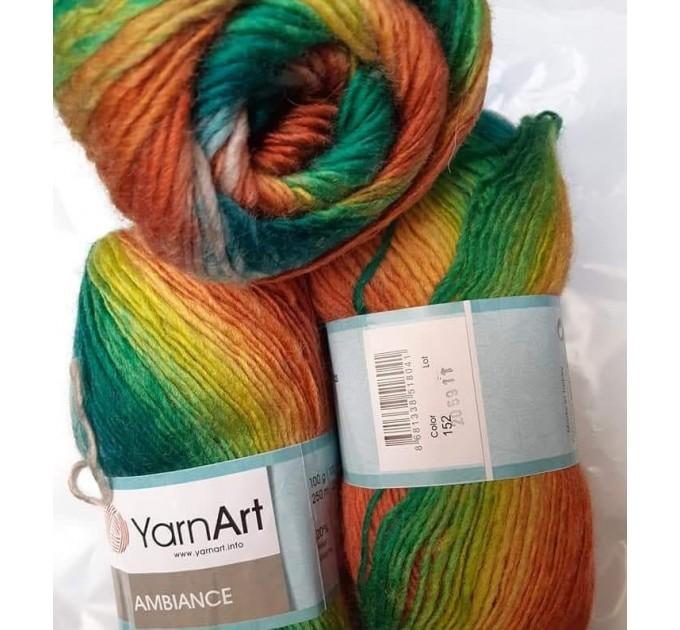 YarnArt AMBIANCE Rainbow Gradient Wool Yarn 100 g 250 meters Multicolor Wool yarn for crochet Shawl Scarf yarn magic soft color choice yarn  Yarn  7