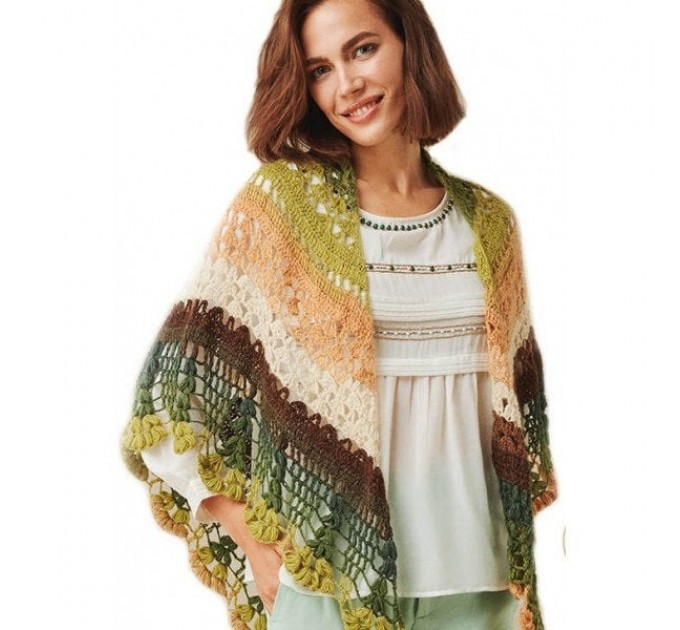 ANGORA LUKS COLOR Nako Gradient Yarn Rainbow  Mohair Multicolor Flowers Wool Batik Light Yarn Crochet Shawl Wraps Yarn Knitting Scarf Poncho  Yarn  10