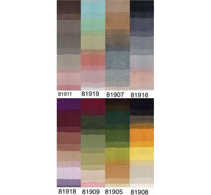 ANGORA LUKS COLOR Nako Gradient Yarn Rainbow  Mohair Multicolor Flowers Wool Batik Light Yarn Crochet Shawl Wraps Yarn Knitting Scarf Poncho  Yarn  5
