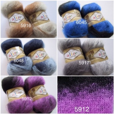 Alize NATURALE MOHAIR yarn COTTON new Blend mohair winter soft wool yarn Knitting crochet shawl yarn Knit sweater poncho yarn for hat scarf