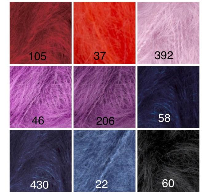 Alize NATURALE MOHAIR yarn COTTON new Blend mohair winter soft wool yarn Knitting crochet shawl yarn Knit sweater poncho yarn for hat scarf  Yarn  1