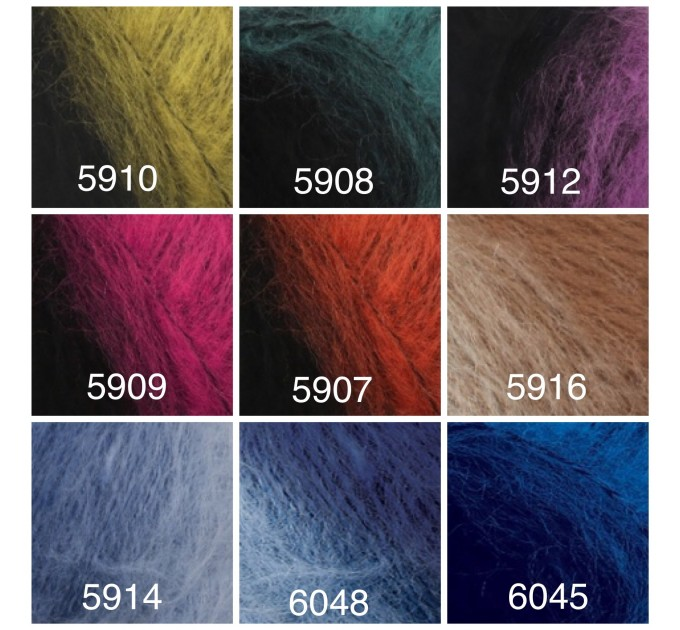 Alize NATURALE MOHAIR yarn COTTON new Blend mohair winter soft wool yarn Knitting crochet shawl yarn Knit sweater poncho yarn for hat scarf  Yarn  7
