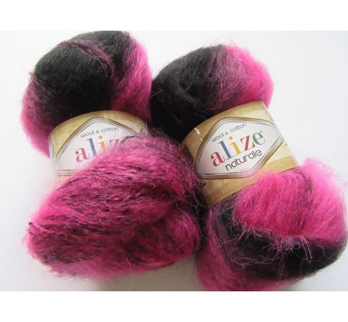 Alize NATURALE MOHAIR yarn COTTON new Blend mohair winter soft wool yarn Knitting crochet shawl yarn Knit sweater poncho yarn for hat scarf  Yarn  8