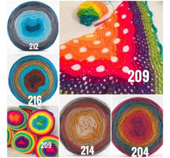 Rainbow Crochet Shawl Fringe Wraps OOAK Boho Lace Triangle Warm Shawl Mom Scarf Women Floral Hand Knit Shawl Large Big Crocheted  Shawl / Wraps  10