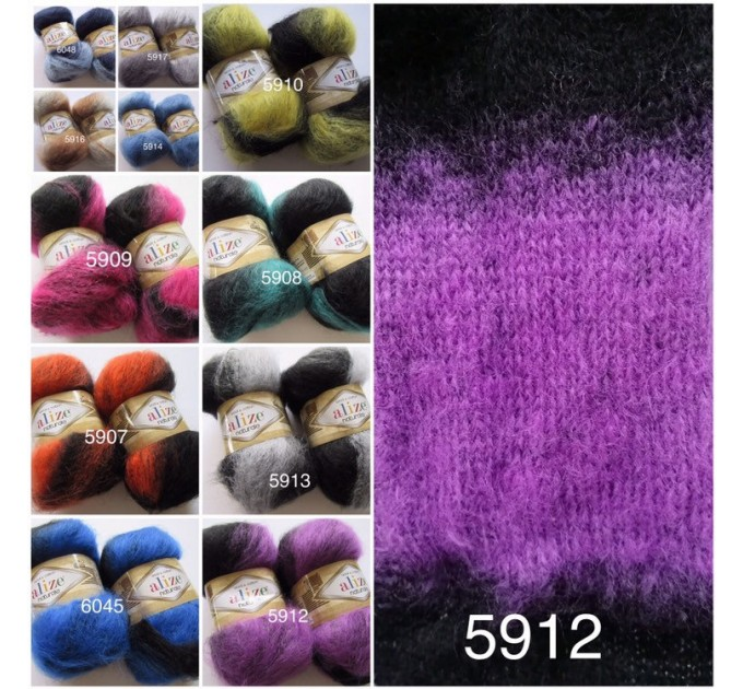 Alize NATURALE MOHAIR COTTON yarn new Blend mohair winter soft wool yarn Knitting crochet shawl yarn Knit sweater poncho yarn for hat scarf  Yarn  5