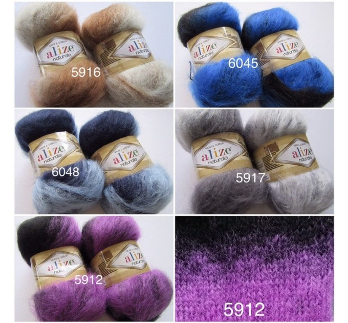 Alize NATURALE MOHAIR COTTON yarn new Blend mohair winter soft wool yarn Knitting crochet shawl yarn Knit sweater poncho yarn for hat scarf  Yarn  4