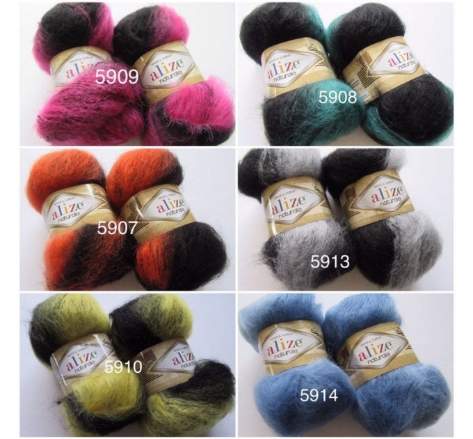 Alize NATURALE MOHAIR COTTON yarn new Blend mohair winter soft wool yarn Knitting crochet shawl yarn Knit sweater poncho yarn for hat scarf  Yarn  3