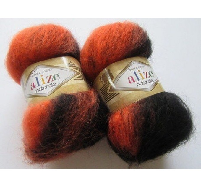 Alize NATURALE MOHAIR COTTON yarn new Blend mohair winter soft wool yarn Knitting crochet shawl yarn Knit sweater poncho yarn for hat scarf  Yarn  8
