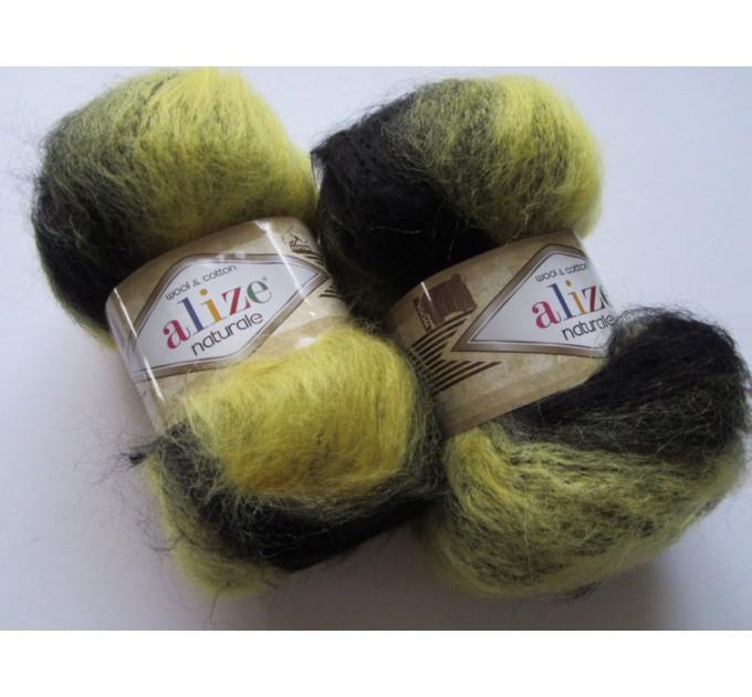Alize NATURALE MOHAIR COTTON yarn new Blend mohair winter soft wool yarn Knitting crochet shawl yarn Knit sweater poncho yarn for hat scarf  Yarn  9