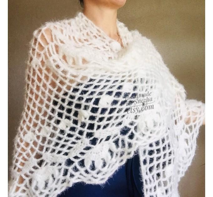 Ivory Wedding Bolero Bridal shawl Beige bridesmaid wrap gift for her White Winter knit Shrug Red Cape cover up Gray Fuzzy Capelet Royal Blue  Shawl / Wraps  4