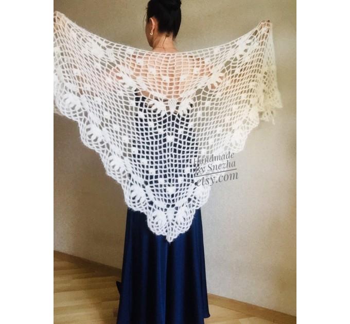Ivory Wedding Bolero Bridal shawl Beige bridesmaid wrap gift for her White Winter knit Shrug Red Cape cover up Gray Fuzzy Capelet Royal Blue  Shawl / Wraps  7