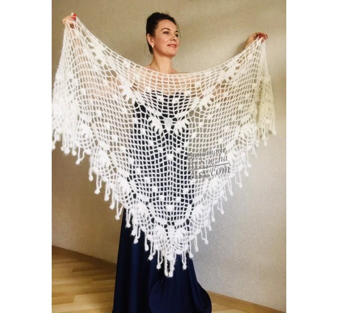 Ivory Wedding Bolero Bridal shawl Beige bridesmaid wrap gift for her White Winter knit Shrug Red Cape cover up Gray Fuzzy Capelet Royal Blue  Shawl / Wraps  8