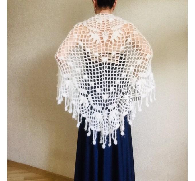Ivory Wedding Bolero Bridal shawl Beige bridesmaid wrap gift for her White Winter knit Shrug Red Cape cover up Gray Fuzzy Capelet Royal Blue  Shawl / Wraps  9