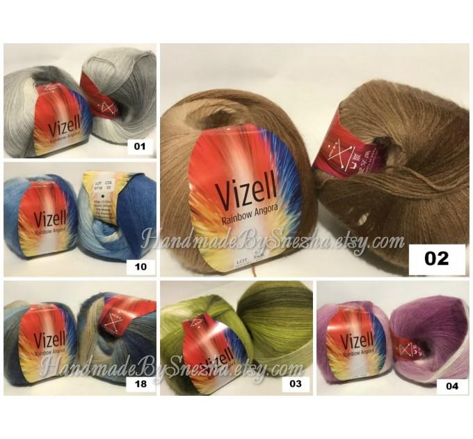 Crochet Shawl Poncho Women Fringe Mohair Big Size Maxi Triangle Shawl Gradient Blue Alpaca Long Hand knit Bohemian Festi Hand Knit Shawl  Shawl / Wraps  9