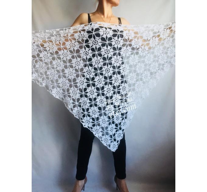 Prayer shawl Bridal shawl pin Bridesmaid Shawl Wedding Cape Wrap Gift-for-women-mom-her-birthday-gift-grandma Easy Lace hand knit shawl Gray  Shawl / Wraps  5