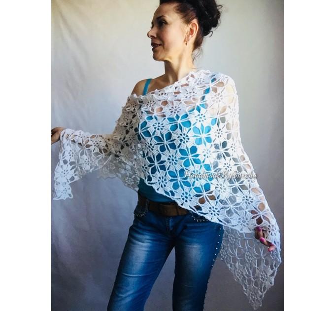 Prayer shawl Bridal shawl pin Bridesmaid Shawl Wedding Cape Wrap Gift-for-women-mom-her-birthday-gift-grandma Easy Lace hand knit shawl Gray  Shawl / Wraps  6