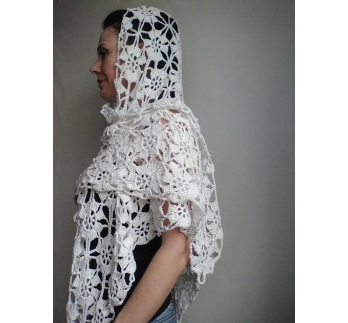 Prayer shawl Bridal shawl pin Bridesmaid Shawl Wedding Cape Wrap Gift-for-women-mom-her-birthday-gift-grandma Easy Lace hand knit shawl Gray  Shawl / Wraps  7