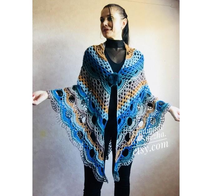 Crochet Shawl Wraps With Fringe Yellow Shawl Best Friend Gift Caregiver Appreciation Gray Acrylic Wool Shawl Easter Shawl Mom Gift, Grandma  Shawl / Wraps  10