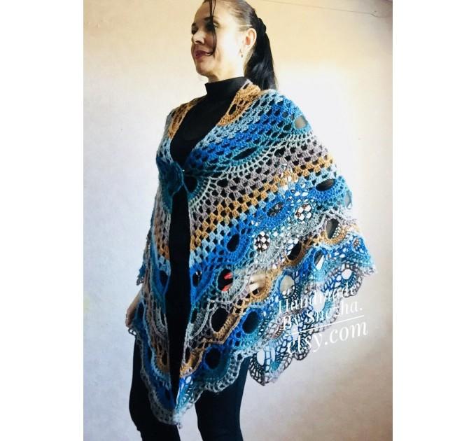 Crochet Shawl Wraps With Fringe Yellow Shawl Best Friend Gift Caregiver Appreciation Gray Acrylic Wool Shawl Easter Shawl Mom Gift, Grandma  Shawl / Wraps  6