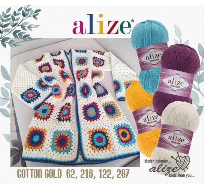 COTTON GOLD Alize Crochet yarn doll pattern amigurumi Yarn for knitting flower yarn baby cotton yarn granny square Shawl wraps yarn  Yarn  1