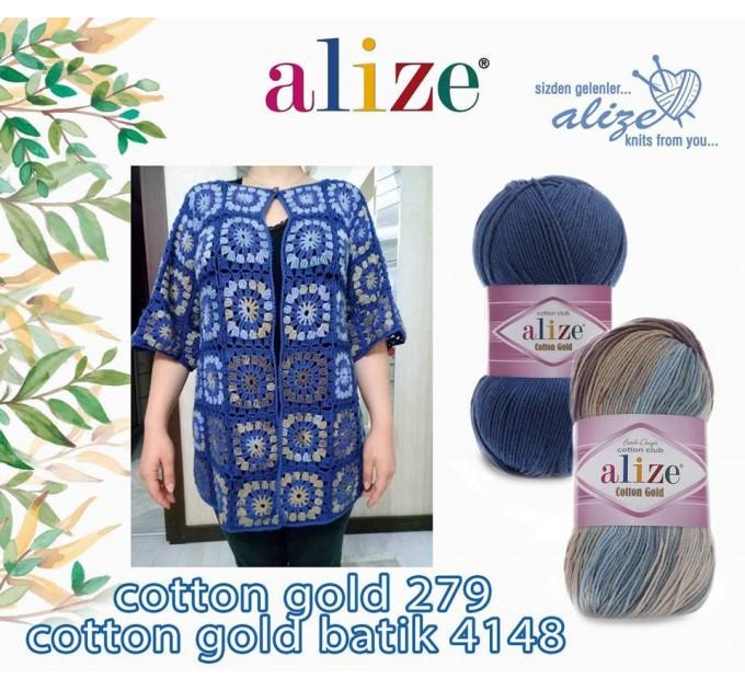 COTTON GOLD Alize Crochet yarn doll pattern amigurumi Yarn for knitting flower yarn baby cotton yarn granny square Shawl wraps yarn  Yarn  6
