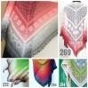 Crochet Lace Shawl Wraps Pink Shawl Boho Triangle Scarf for Women Rainbow Floral Hand Knit Shawl Large
