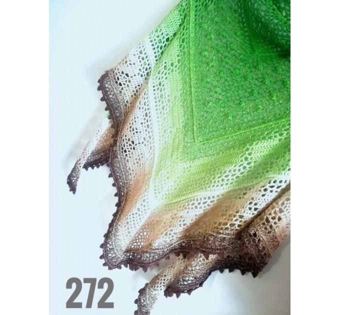 Crochet Lace Shawl Wraps Pink Shawl Boho Triangle Scarf for Women Rainbow Floral Hand Knit Shawl Large  Shawl / Wraps  3