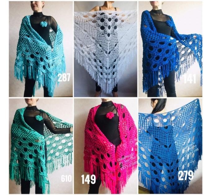 Crochet Shawl Bridal Shawl, Lace Shawl Gift for Women Mom Birthday gift Grandma,Bridesmaid Shawl Pin, Wedding Cape Wrap Prayer Shawl  Shawl / Wraps  3