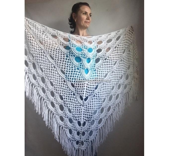 Crochet Shawl Bridal Shawl, Lace Shawl Gift for Women Mom Birthday gift Grandma,Bridesmaid Shawl Pin, Wedding Cape Wrap Prayer Shawl  Shawl / Wraps  7