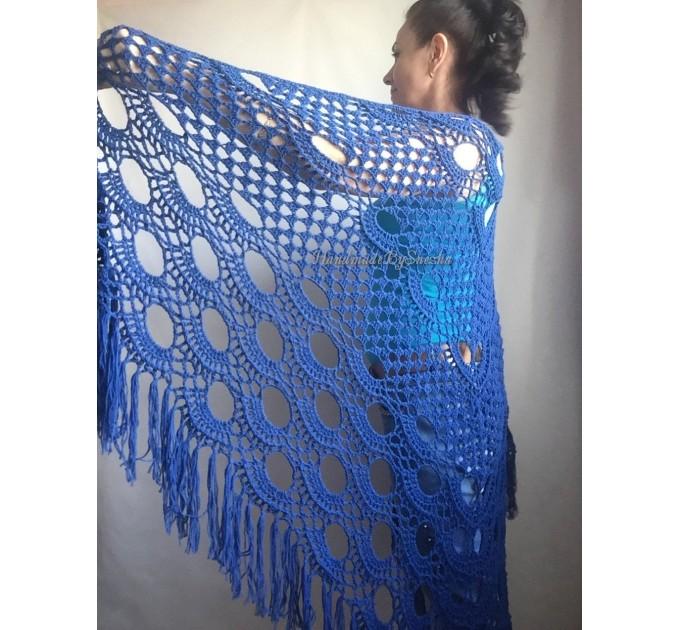 Crochet Shawl Bridal Shawl, Lace Shawl Gift for Women Mom Birthday gift Grandma,Bridesmaid Shawl Pin, Wedding Cape Wrap Prayer Shawl  Shawl / Wraps  8