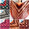 Crochet Shawl Wrap Burnt Orange Triangle Boho Shawl Colorful Rainbow Shawl Fringe Big Multicolor Lace Shawl Hand Knitted Shawl Evening Shawl