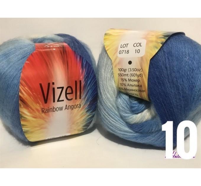 RAINBOW Angora Vizel Alpaca Wool fingering yarn Lace multicolour crochet knit art yarn shawl scarf poncho sweater cardigan wrap hat pattern  Yarn  9