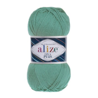 DIVA PLUS Alize Yarn Silk Effect Crochet Microfiber Acrylic Lace Hand Knitting Yarn shawl-scarf-poncho-sweater-wrap-Bag-pattern Vegan Yarn
