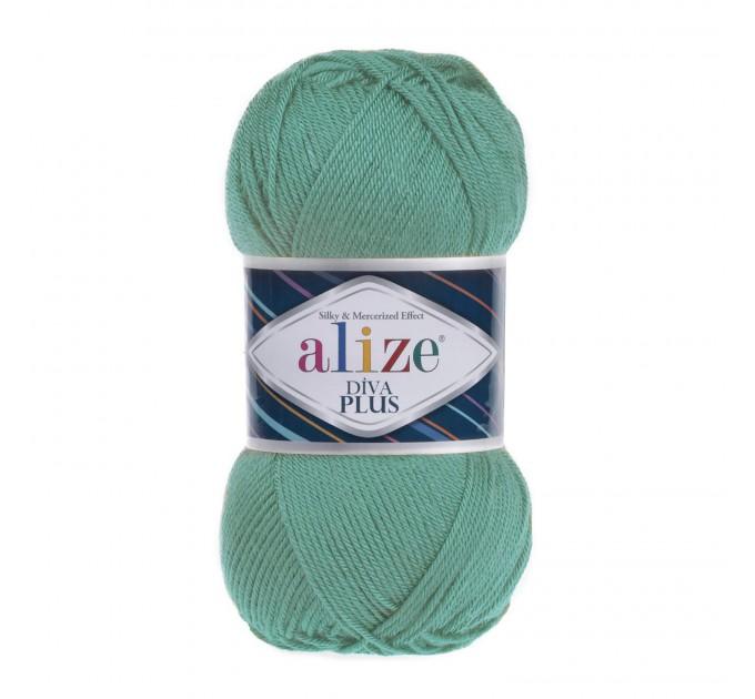 DIVA PLUS Alize Yarn Silk Effect Crochet Microfiber Acrylic Lace Hand Knitting Yarn shawl-scarf-poncho-sweater-wrap-Bag-pattern Vegan Yarn  Yarn  6