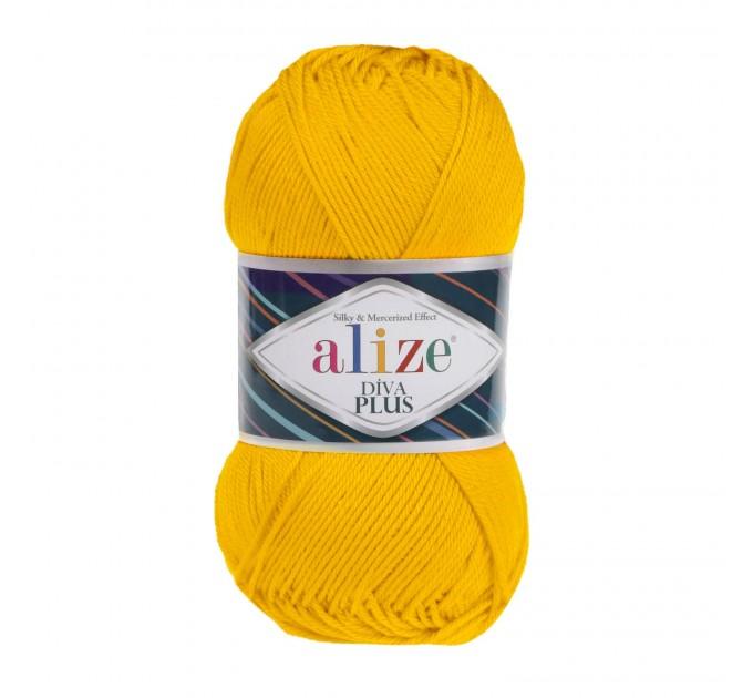 DIVA PLUS Alize Yarn Silk Effect Crochet Microfiber Acrylic Lace Hand Knitting Yarn shawl-scarf-poncho-sweater-wrap-Bag-pattern Vegan Yarn  Yarn  1