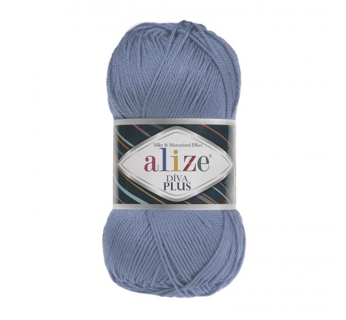 DIVA PLUS Alize Yarn Silk Effect Crochet Microfiber Acrylic Lace Hand Knitting Yarn shawl-scarf-poncho-sweater-wrap-Bag-pattern Vegan Yarn  Yarn  7