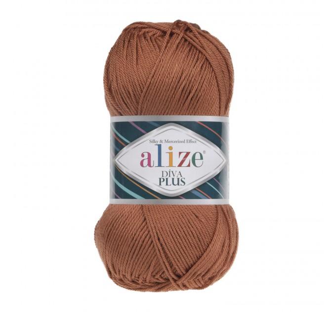 DIVA PLUS Alize Yarn Silk Effect Crochet Microfiber Acrylic Lace Hand Knitting Yarn shawl-scarf-poncho-sweater-wrap-Bag-pattern Vegan Yarn  Yarn  8