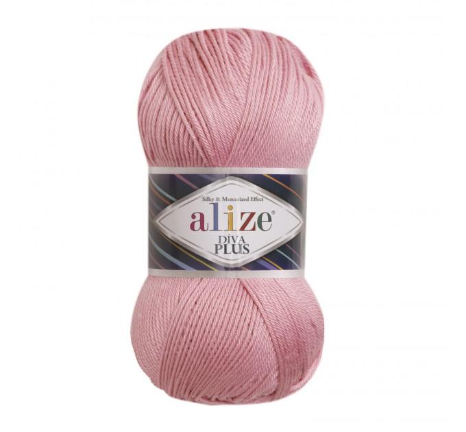 DIVA PLUS Alize Yarn Silk Effect Crochet Microfiber Acrylic Lace Hand Knitting Yarn shawl-scarf-poncho-sweater-wrap-Bag-pattern Vegan Yarn  Yarn  9