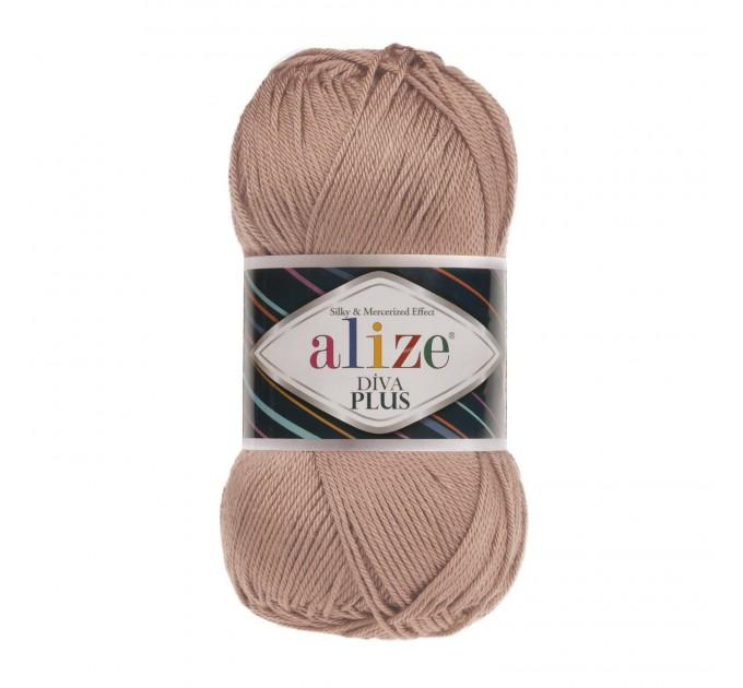 DIVA PLUS Alize Yarn Silk Effect Crochet Microfiber Acrylic Lace Hand Knitting Yarn shawl-scarf-poncho-sweater-wrap-Bag-pattern Vegan Yarn  Yarn  10